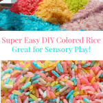 How to Make Rainbow Colored Rice – #sensoryplay