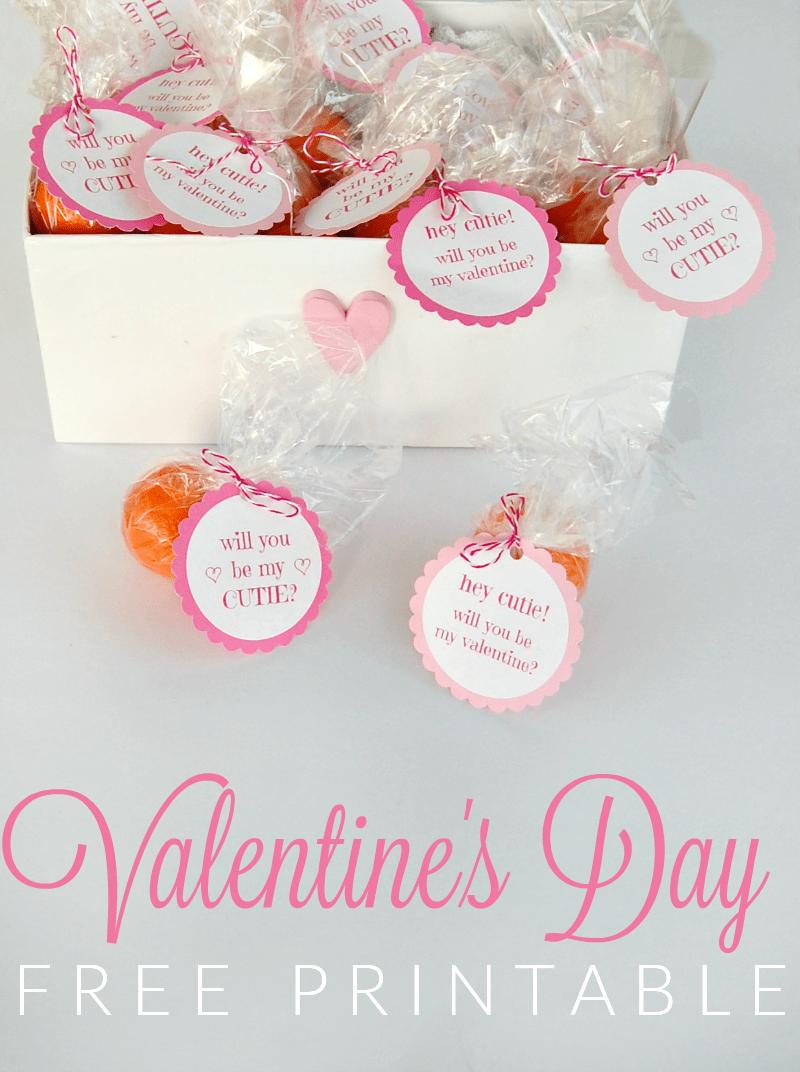 Valentine's Day Free Printable - free printable tags