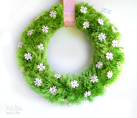 Spring Baby Grass Wreath - DIY Craft
