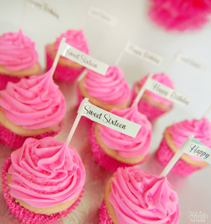 Pretty Cupcake Labels - Favorite Fonts