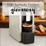 Starbucks Verismo Coffee Maker Giveaway $240