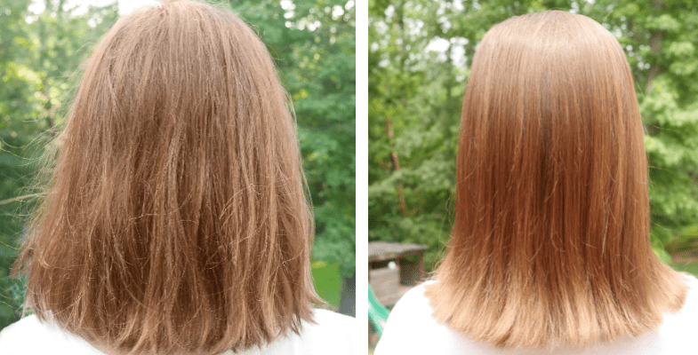 Nexxus Hair Care Before and After