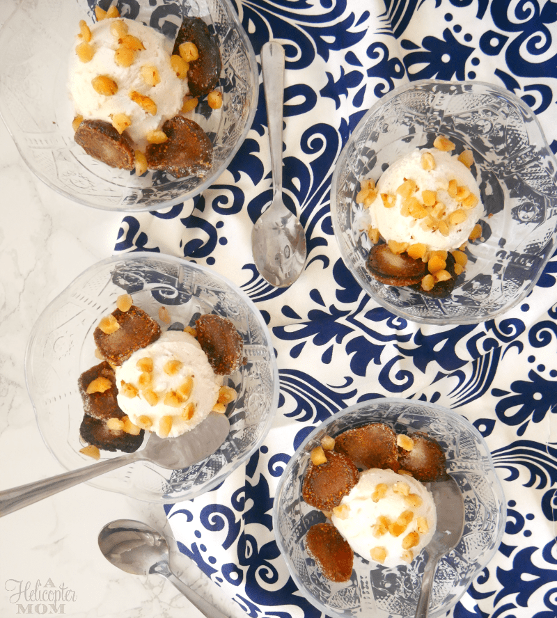 Spice Roasted Figs with Hazelnuts and Vanilla Ice Cream Recipe - A ...