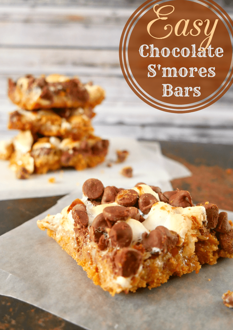 Easy Chocolate S'mores Bars Recipe - A Helicopter Mom