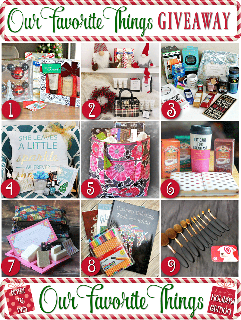 Our Favorite Things Holiday Prize Pack Giveaway