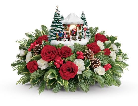 Thomas Kinkade's Jolly Santa Bouquet Gift Code Giveaway