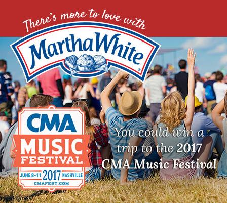 Martha White 2017 CMA Music Festival Sweeps