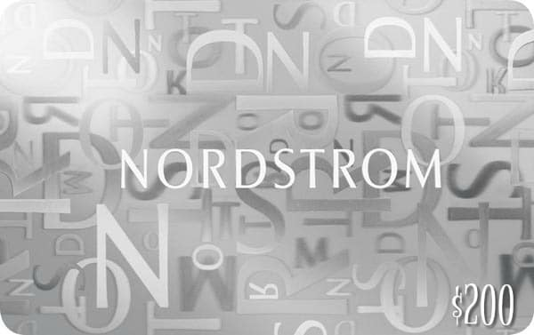 $200 Nordstrom Gift Card Giveaway
