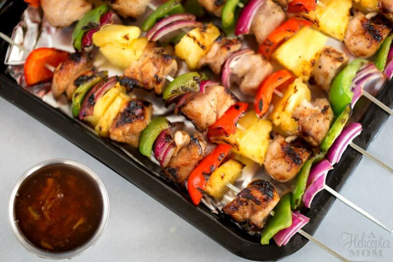 Easy Grilled Chicken Kabobs