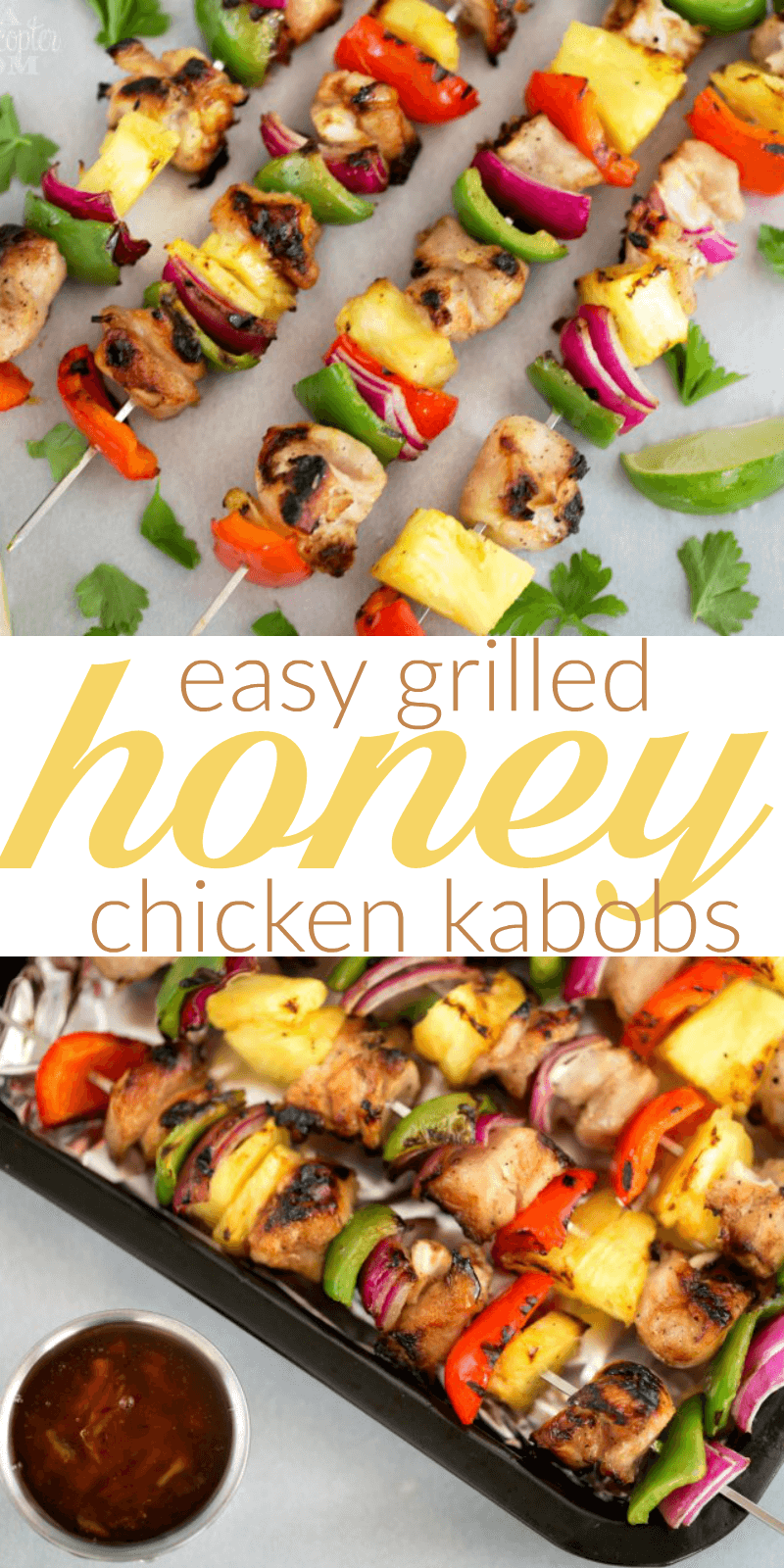 Easy Grilled Honey Chicken Kabobs - Our absolute family favorite! Such yummy flavors and easy to make!