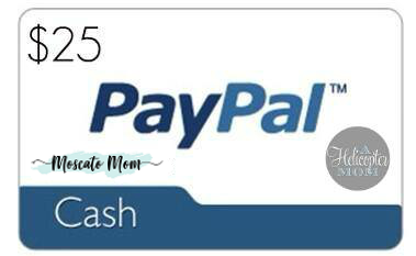 Paypal Cash Giveaway on A Helicopter Mom