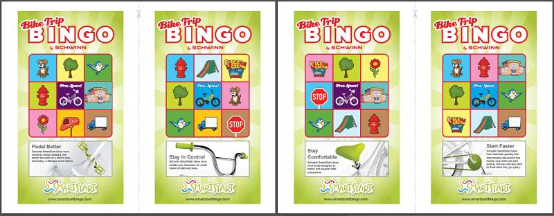 Schwinn SmartStart Bike Trip Bingo Cards