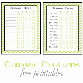 Back to School Chore List – Free Printable