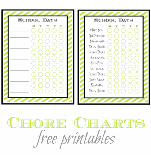 picture relating to Summer Chore Chart Printable called Again in direction of Higher education Chore Listing - No cost Printable - A Helicopter Mother