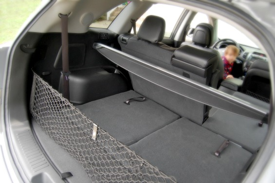 Kia Sorento Review Third Row Fold Down Storage
