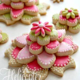 Flower Stacked Cookies