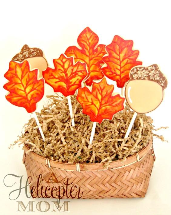 Autumn Acorn Hand Iced Cookies