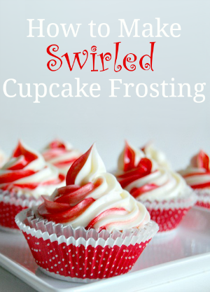 How to Make Swirled Cupcake Frosting - Tutorial