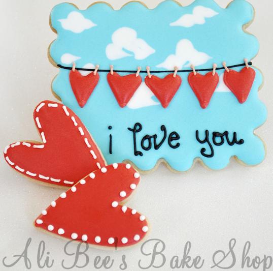 I Love You Cookies