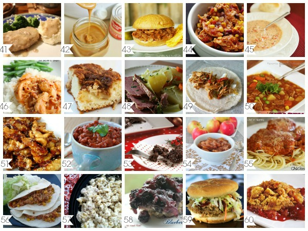 60 Crock Pot Recipes Slow Cooker Recipes