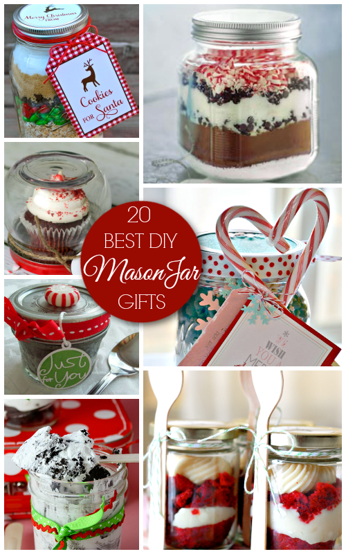 20 Best DIY Mason Jar Gifts - Holiday Crafts and Gift Ideas - 20 Best Mason Jar Gifts - Christmas Gift Ideas - A Helicopter Mom