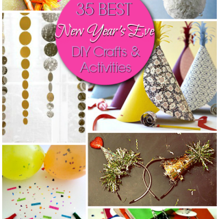 35 Best New Year's Eve Party DIY Activities and Crafts