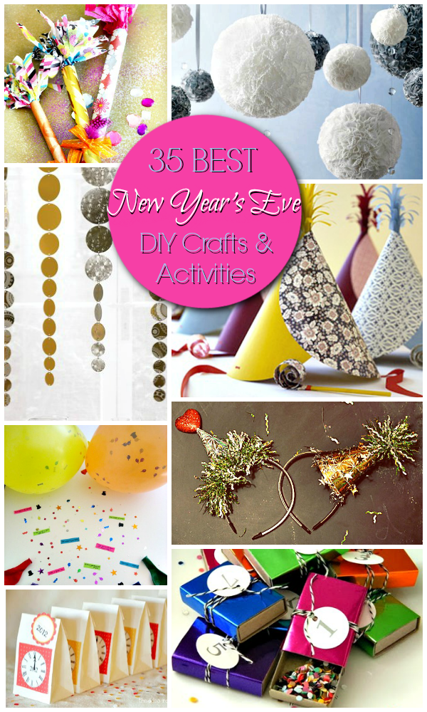 35 Best New Year's Eve DIY Crafts and Activities #DIY