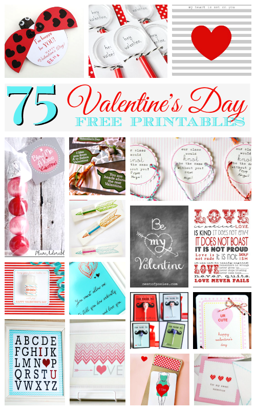 75 Awesome Free Valentine Printables on A Helicopter Mom