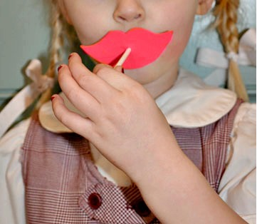Lips and Mustache Lollipop Valentines