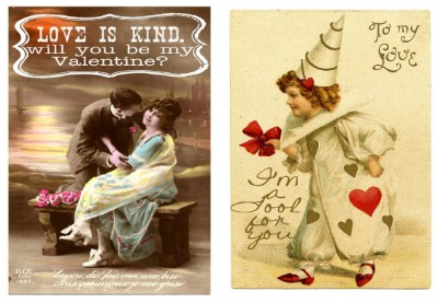 Mini Vintage Valentine's Day Cards