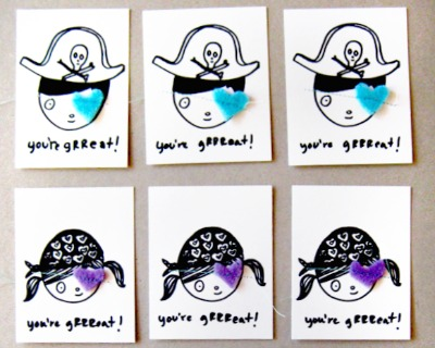 Pirate Valentines
