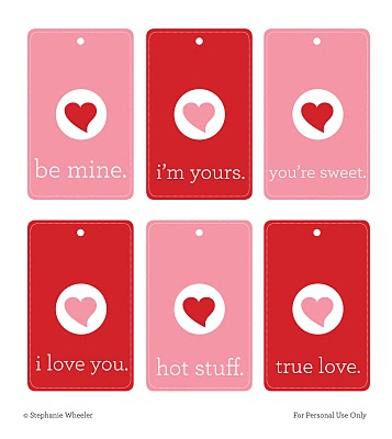 Valentine's Day Tags Be Mine