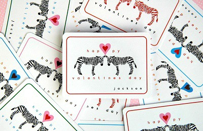 Zebra Valentine's Day Cards