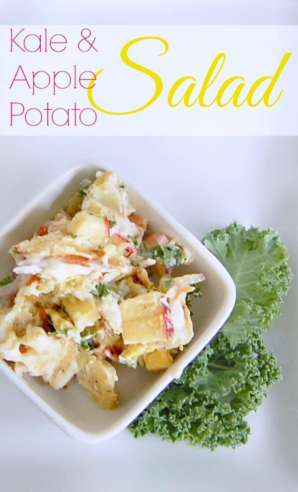 Amazing Kale & Apple Potato Salad Recipe - A Helicopter Mom