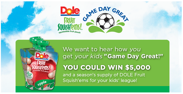 DOLE Game Day Great Facebook Contest