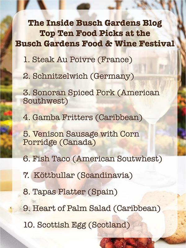 Food & Wine Festival Favorites