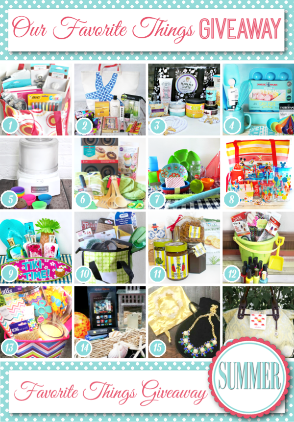 Our Favorite Things Summer Giveaway on A Helicopter Mom