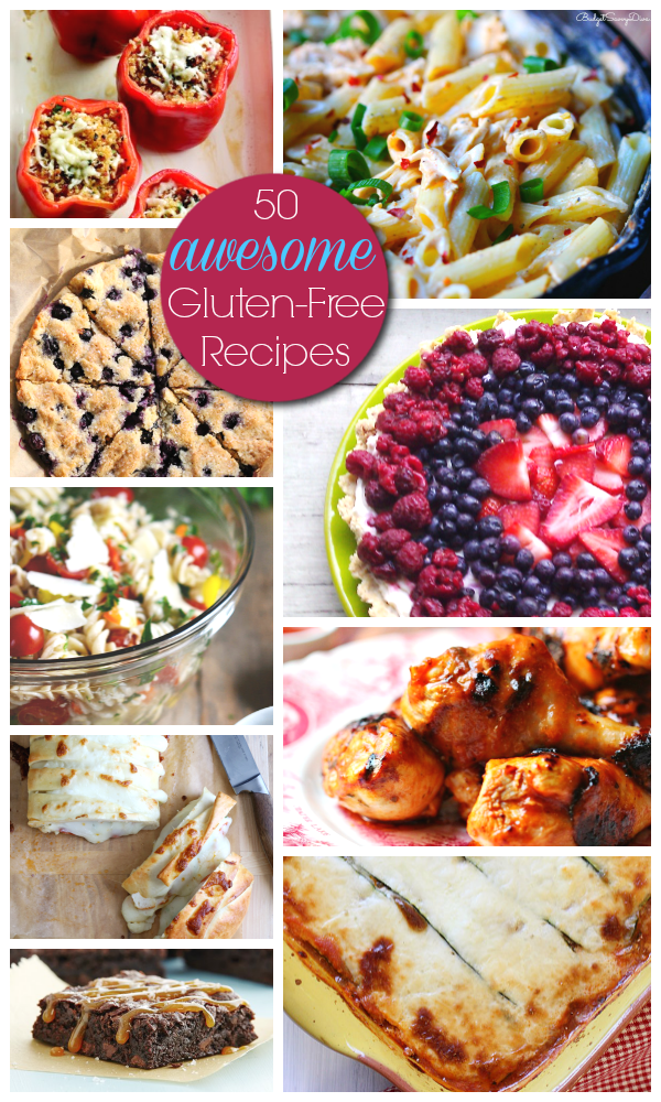 50 Awesome Gluten-Free Recipes - Awesome GF apps, sides, main dishes & desserts! #recipes #glutenfree
