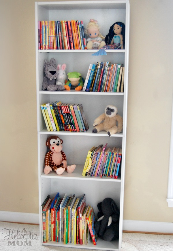 Adorable storage for a child 39 s room a helicopter mom for Bookcases for kids room