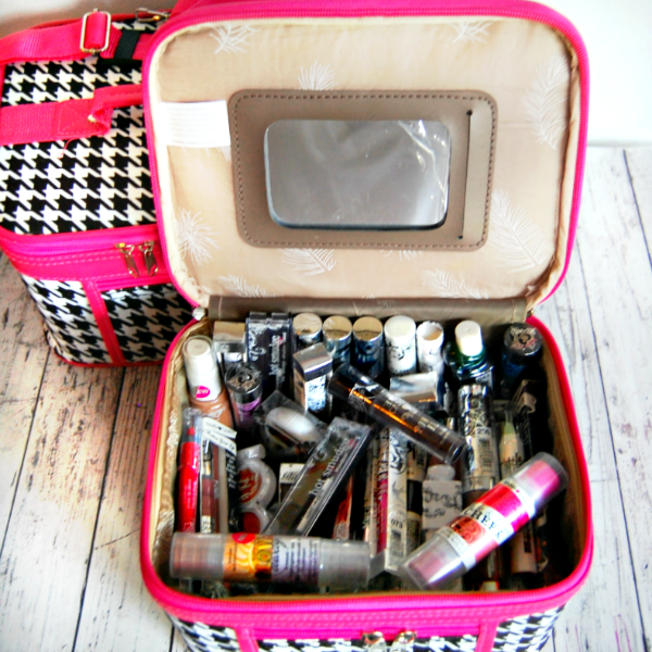 My Favorite Things Giveaway - Cosmetic Train Cases and Makeup Collection
