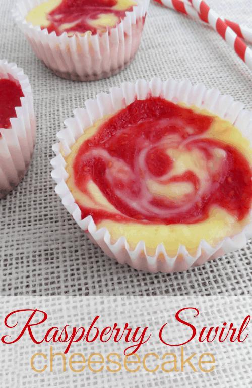 Easy Raspberry Swirl Cheesecakes Recipe