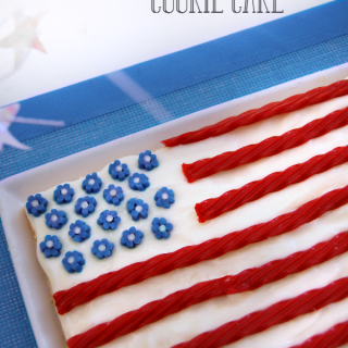 Easy 4th of July American Flag Cookie Cake Recipe