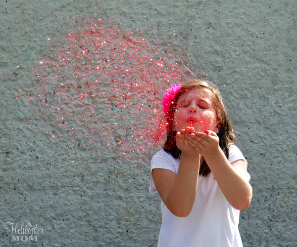 Blowing Glitter - Pink Glitter in the Air
