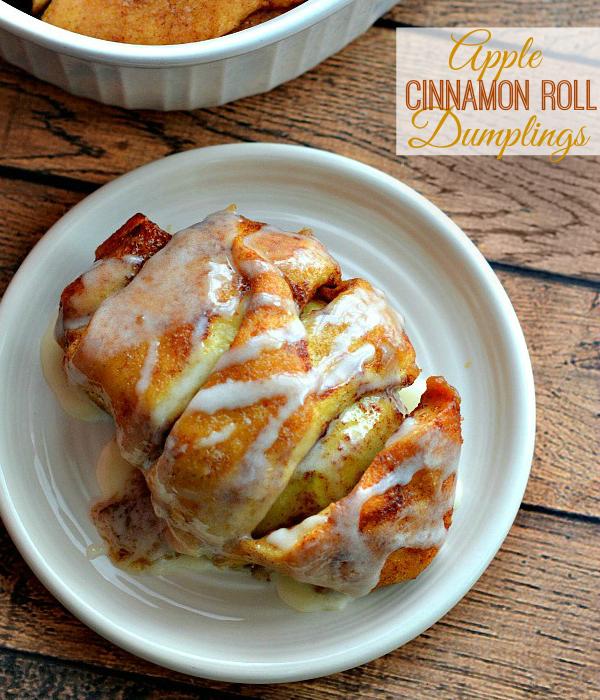 Cinnamon Roll Apple Dumplings with Icing Recipe