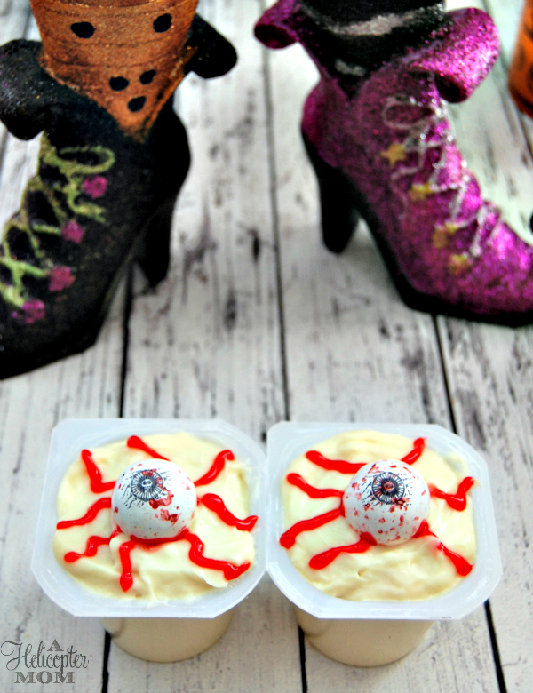 Easy and Fun Halloween Pudding Cups - Creepy Eyeball Pudding Cups