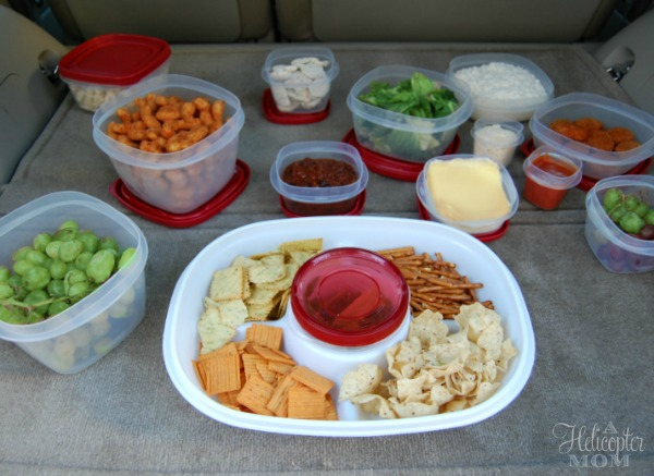 Our Tailgating Spread with Rubbermaid