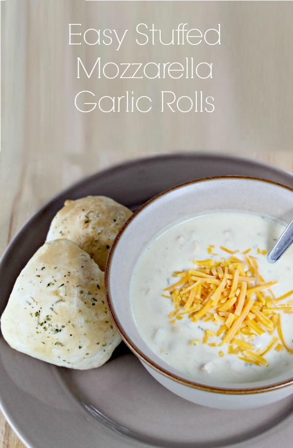Stuffed Mozzarella Garlic Rolls Recipe