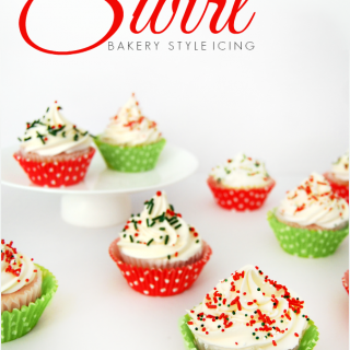 Easy Christmas Cupcakes with Swirl Bakery Style Frosting