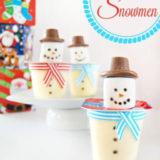 Fun and Easy Pudding Cup DIY Snowmen