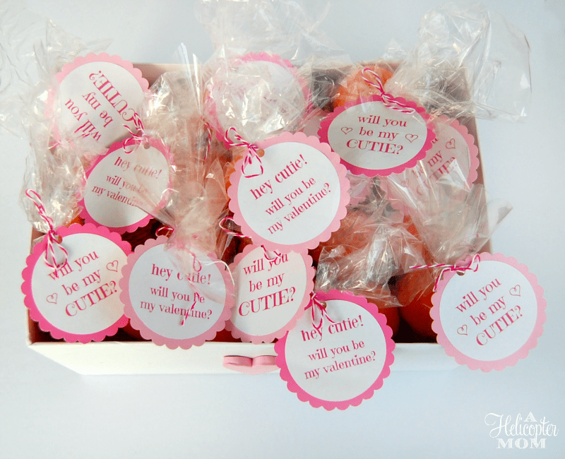 Free Valentine Printable Be My Cutie Tags